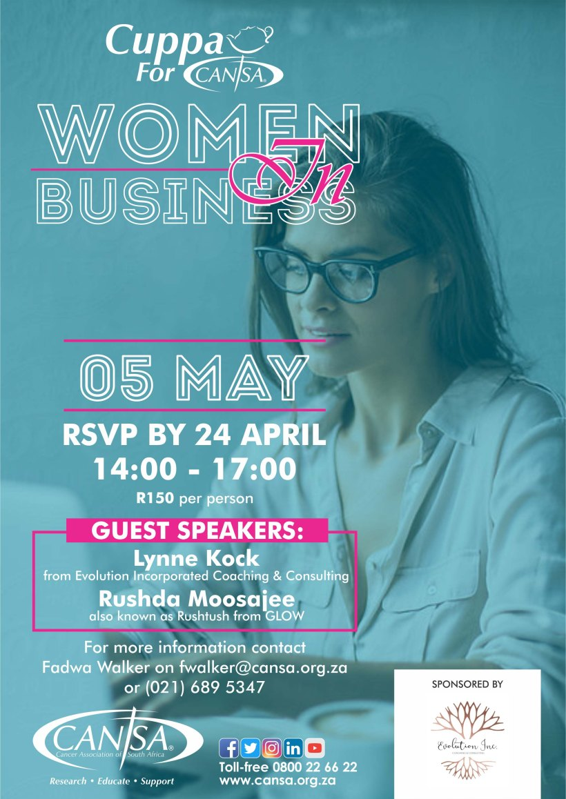 Cuppa For CANSA women in busines - A2 Poster
