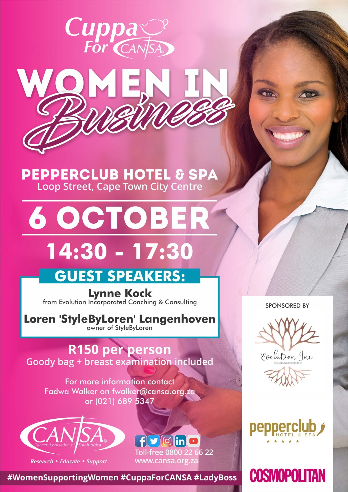 Cuppa For CANSA Women in Business - 6 October