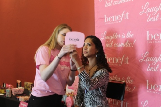 Make up & Brow Touch ups provided by Benefit Cosmetics